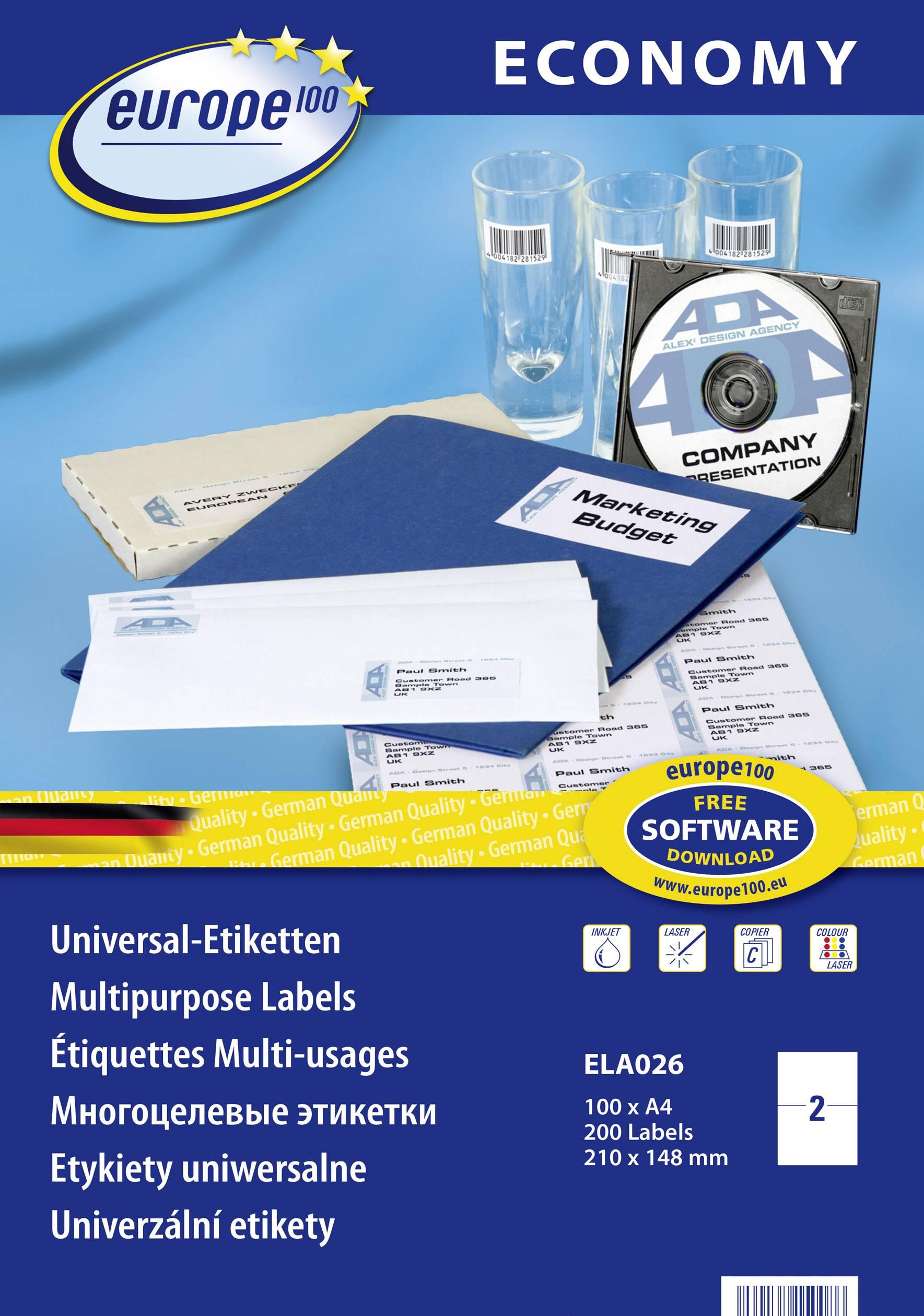 100 fogli 4800 Etichette adesive in fogli A4 Dimensione 22x12.7 mm