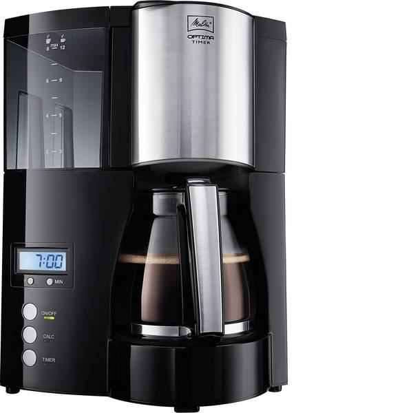 Macchine dal caffè con filtro - Melitta Optima Timer black Macchina per il caffè Nero Capacità tazze=12 funzione timer -