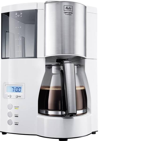 Macchine dal caffè con filtro - Melitta Optima Timer ws Macchina per il caffè Bianco Capacità tazze=12 Display, funzione timer, Funzione mantenimento  -
