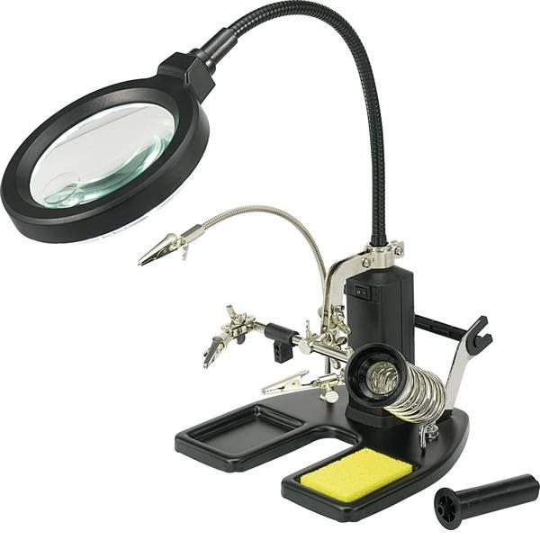 Lampade tecniche e lenti da laboratorio - Terza mano con lampada dingrandimento a LED TOOLCRAFT -