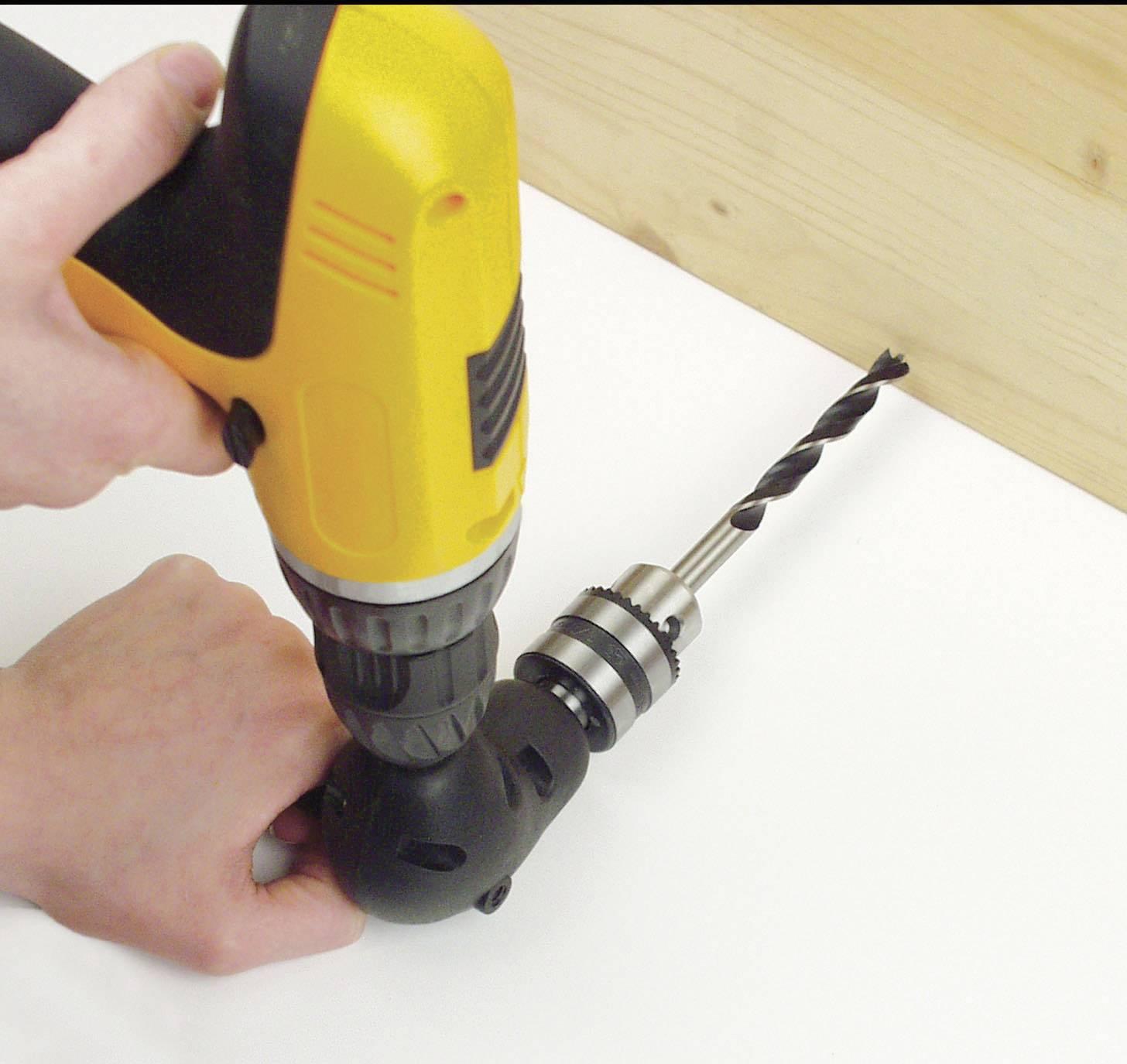 Attacco adattatore per trapano ad angolo retto Brynnl mandrino di prolunga per foratura professionale da 90 gradi 0,8-10 mm adatto per utensile di prolunga per trapano elettrico con albero da 8 mm
