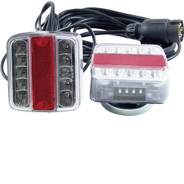 Illuminazione per rimorchi - Kit illuminazione LED 13 poli destra, sinistra 12 V Berger & Schröter Vetro trasparente, incl. supporto magnetico -