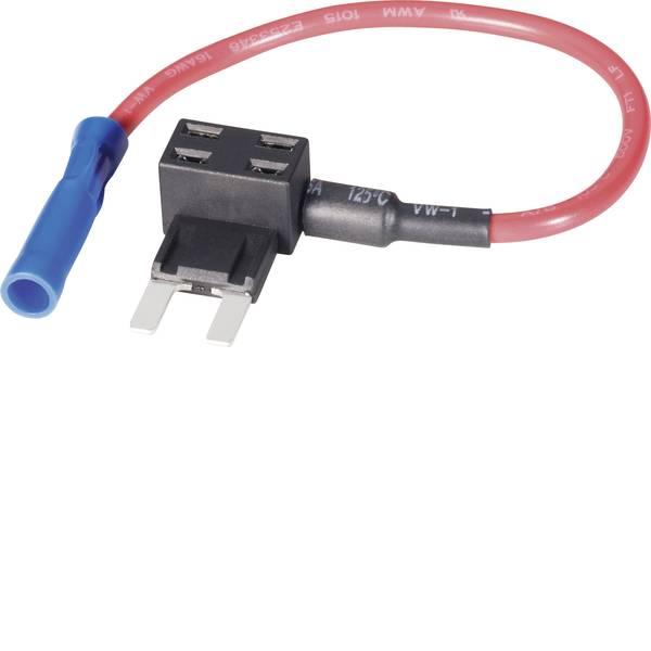 Portafusibili auto - Basetech Adattatore fusibile piatto Mini fusibili a lama Poli 1 15 A 1.50 mm² 1 pz. -