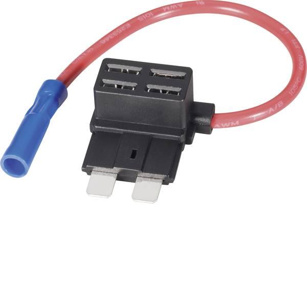 Portafusibili auto - Basetech Adattatore fusibile piatto Fusibile a lama standard Poli 1 15 A 1.5 mm² 1 pz. -