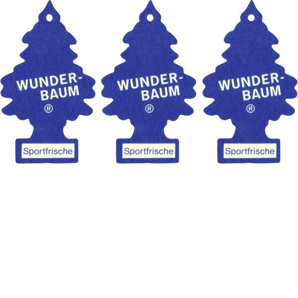 Deodoranti per auto - Wunder-Baum Alberello profumato Sport Fresh 3 pz. -