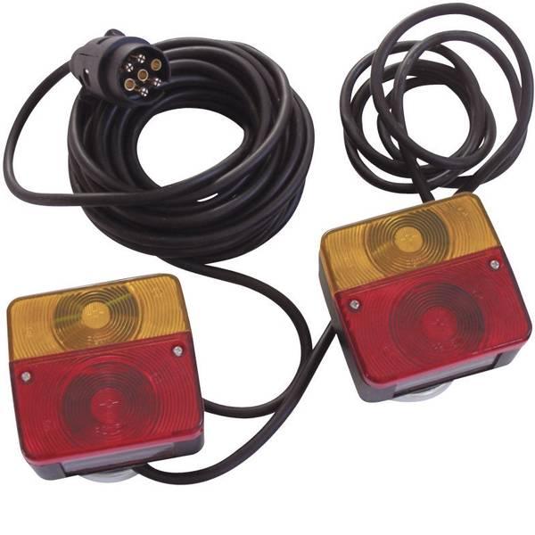 Illuminazione per rimorchi - Kit illuminazione Lampadina ad incandescenza 7 poli posteriore, sinistra, destra 12 V Berger & Schröter incl. supporto  -