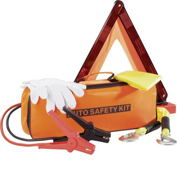 Prodotti assistenza guasti e incidenti - Kit attrezzi demergenza per auto TK-3008-4 Incl. triangolo di emergenza -