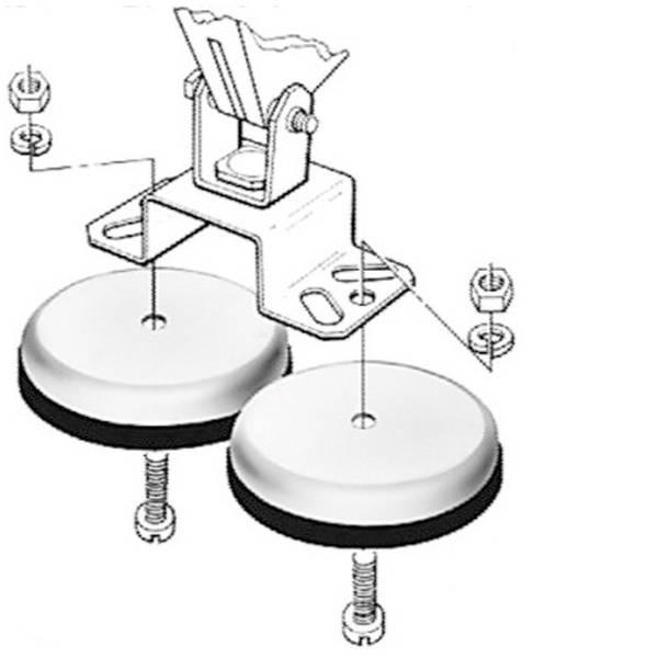 Fari e proiettori da lavoro - Base magnetica di supporto Hella -