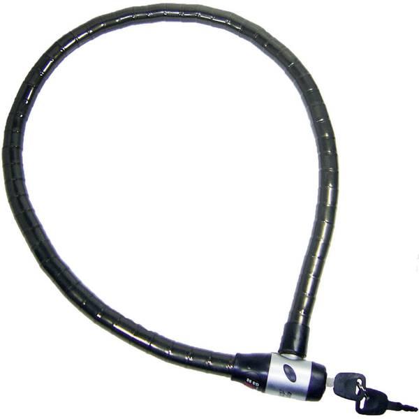 Lucchetti da bicicletta - Lucchetto con cavo flessibile Security Plus GS 98 Nero Lucchetto a chiave -