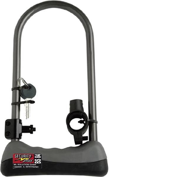 Lucchetti da bicicletta - Lucchetto ad arco (forma U) Security Plus BS 84 Grigio Lucchetto a chiave -