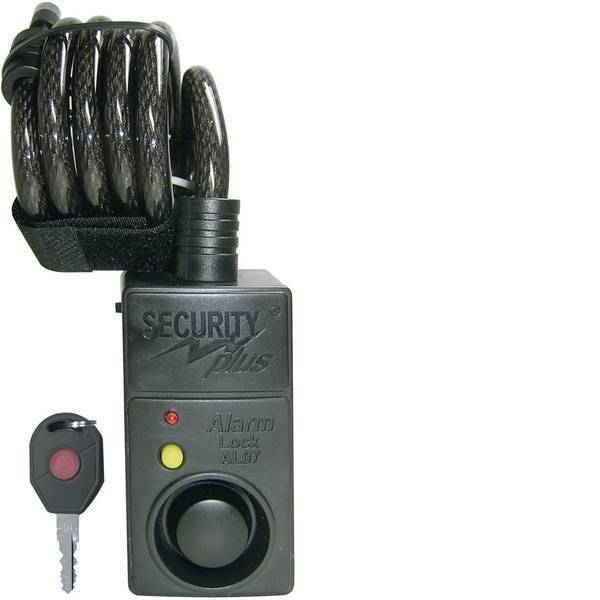 Lucchetti da bicicletta - Security Plus AL07 Lucchetto a cavo Nero con allarme, con sensore di movimento Lucchetto a chiave -