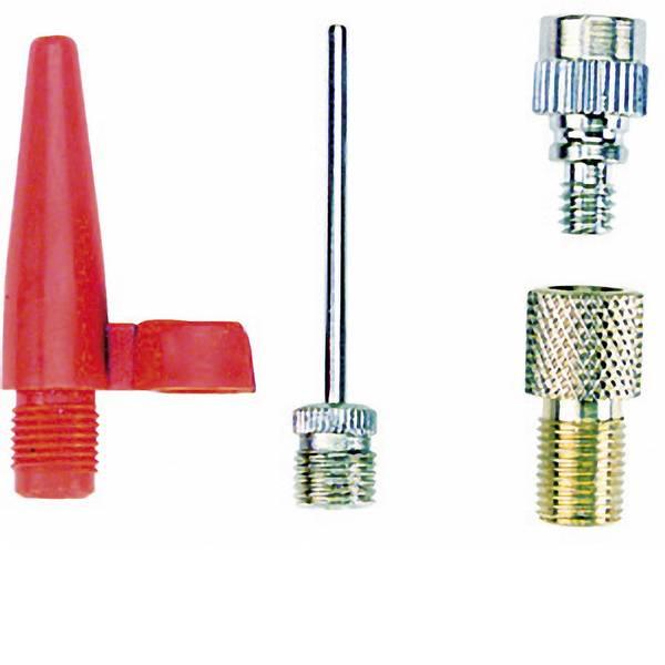 Pompe da bicicletta - Kit adattatori per pompa da bicicletta Fischer Fahrrad 85618 85618 Metallo, Rosso -