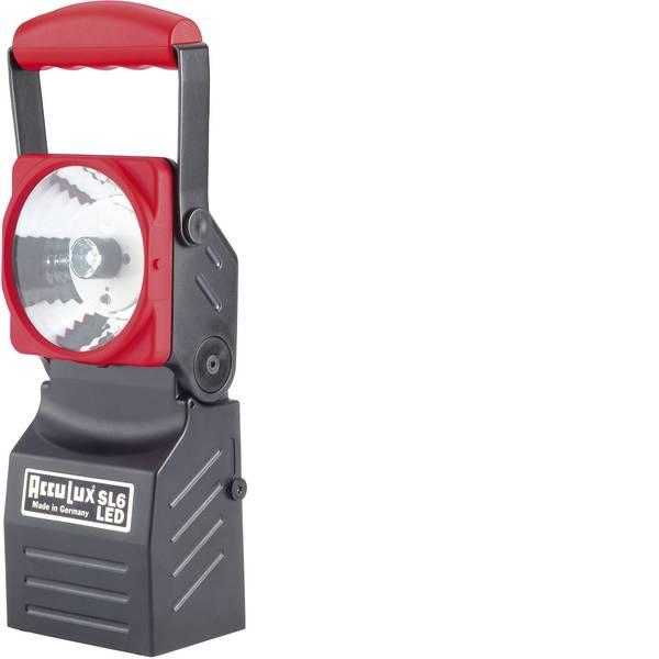 Torce con batterie ricaricabili - AccuLux 456541 Lampada portatile a batteria SL6 LED Nero, Rosso LED 5 h -