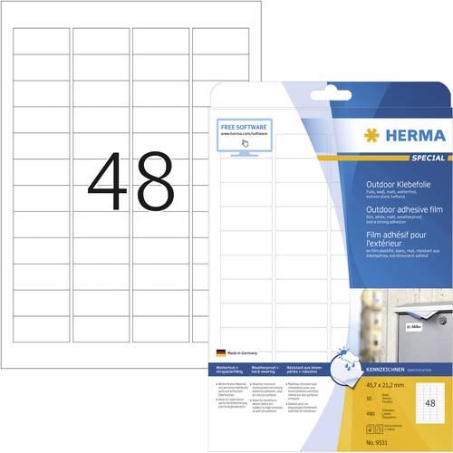 HERMA SuperPrint 96 x 63,5 mm colore: Bianco Etichette removibili