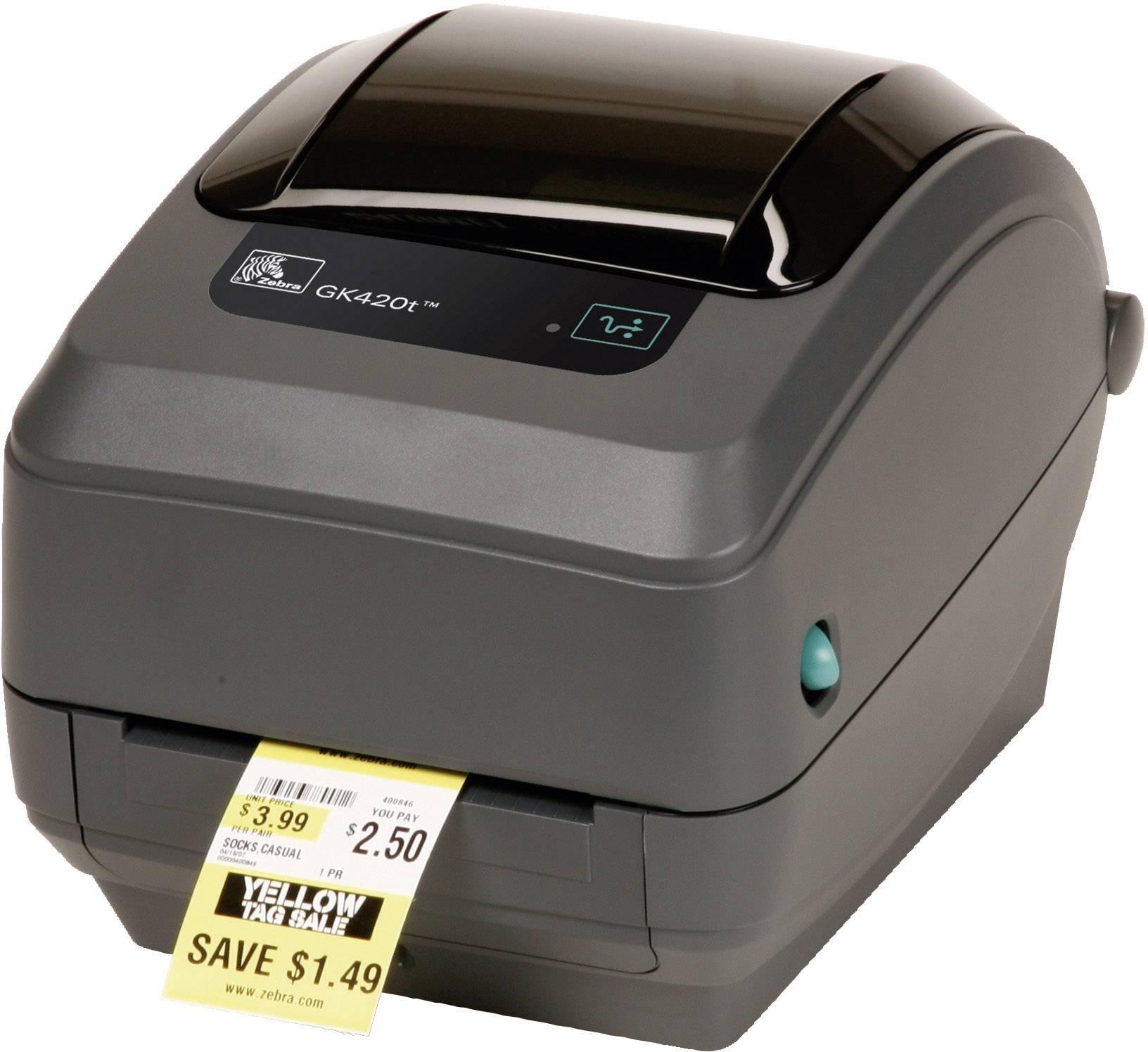 Stampante di etichette Zebra GK420D Termica 203 x 203 dpi Larghezza etichetta (max.): 110 mm USB, LAN