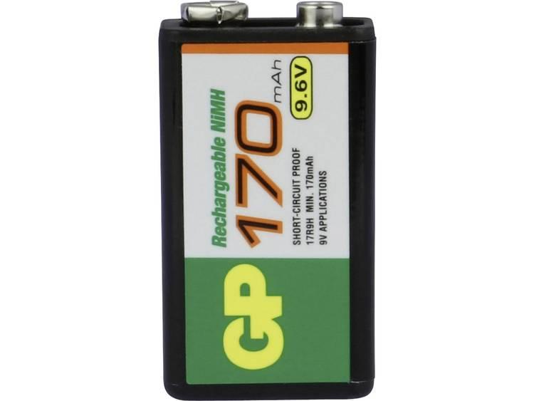 Oplaadbare 9V batterij (blok) GP Batteries 6LR61 NiMH 9.6 V 170 mAh 1 stuk(s)