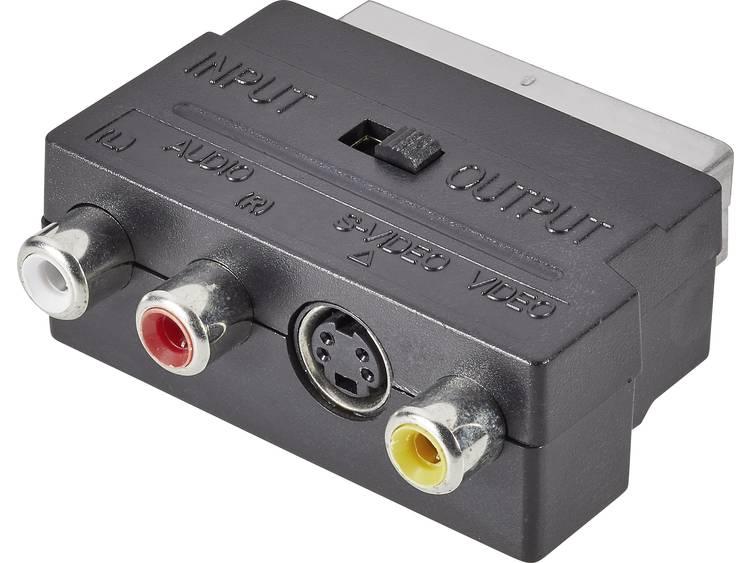 SpeaKa Professional SCART-Cinch-S-Video Adapter [1x SCART-stekker <=> 3x Cinch-koppeling, S-video bu