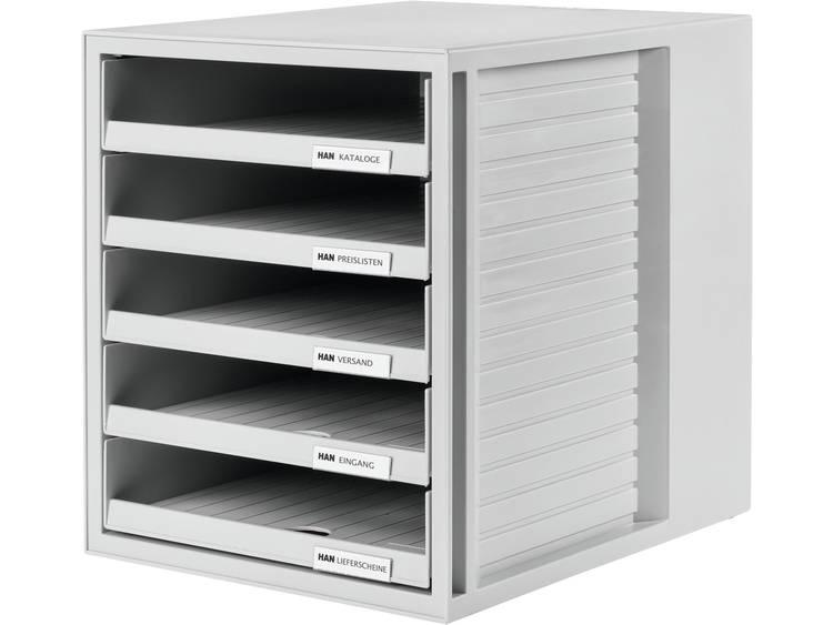 HAN 5 open laden Ladenkastje Grijs A4 Kunststof 27 5 x 33 x 32 cm Stuks