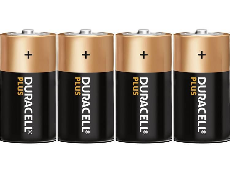 D batterij (mono) Duracell Plus LR20 Alkaline 1.5 V 4 stuk(s)