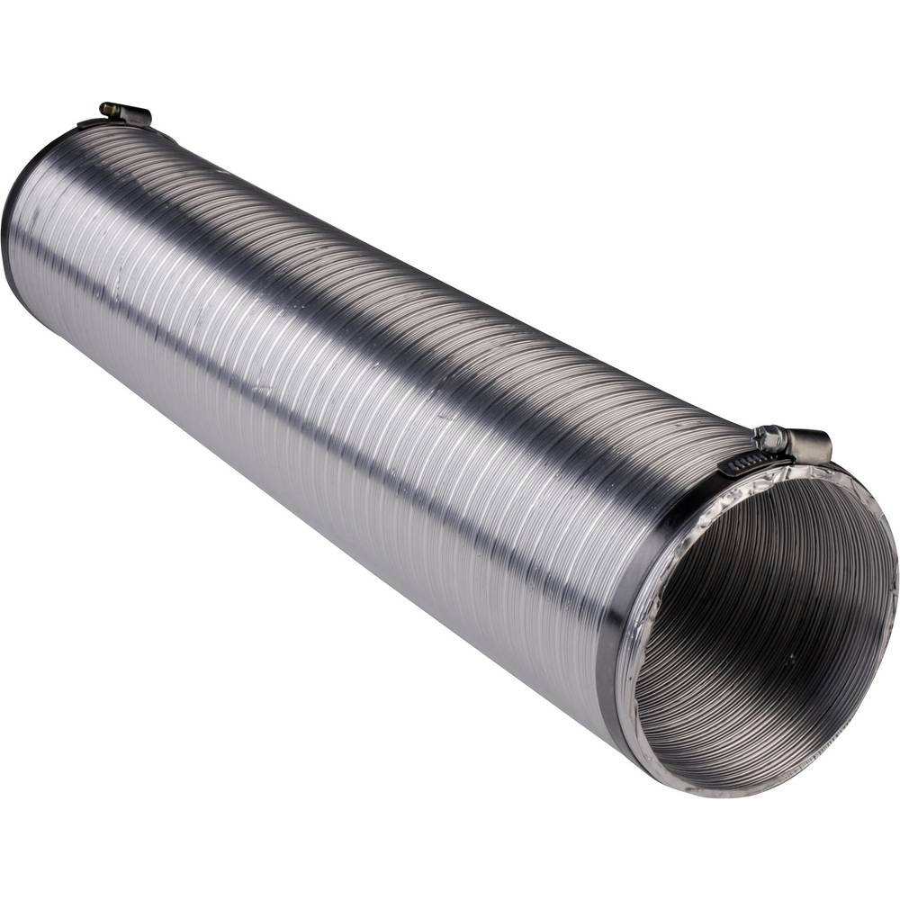 Wallair N51824 Flexibelt luftningsrör Aluminium (Ø x L) 12.5 cm x 2.5 m Silver