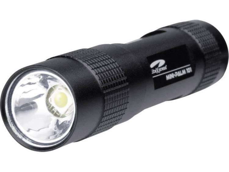 LiteXpress Mini Palm 101 LED Mini zaklamp Werkt op batterijen 67 lm 26 g Zwart
