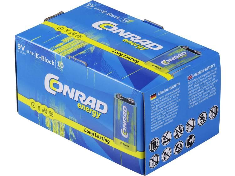 Conrad energy 6LR61 9V batterij (blok) Alkaline 9 V 10 stuk(s)