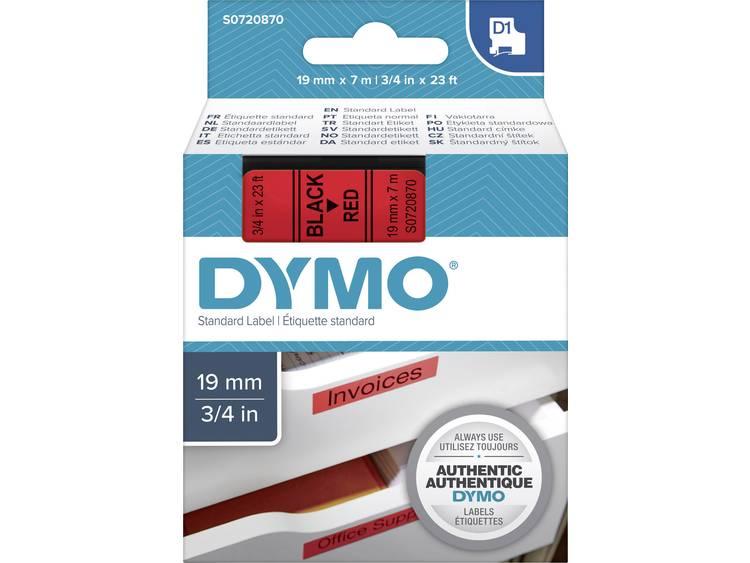 Labeltape Dymo 45807 D1 720870 19mmx7m zwart op rood