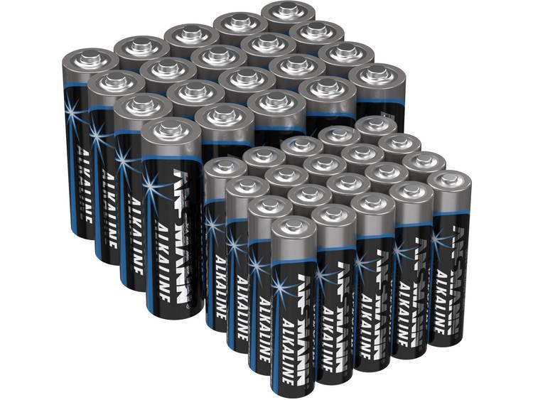 Ansmann Batterijset AAA, AA 40 stuk(s)