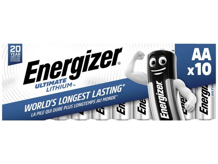 Energizer Ultimate FR6 AA batterij (penlite) Lithium 3000 mAh 1.5 V 10 stuk(s)