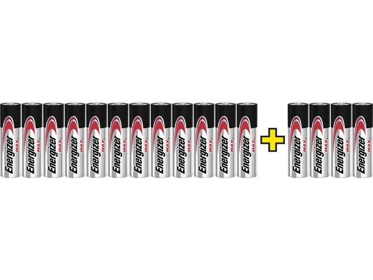Energizer Max LR06, 12+4 gratis AA batterij (penlite) Alkaline 1.5 V 16 stuk(s)