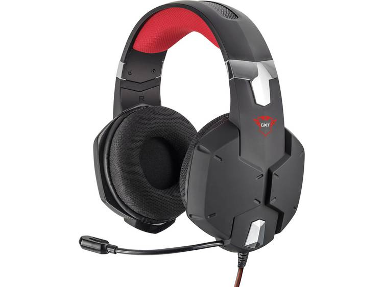 Trust GXT322 Dynamic Headset Gaming headset 3.5 mm jackplug Kabelgebonden Over Ear Zwart/rood
