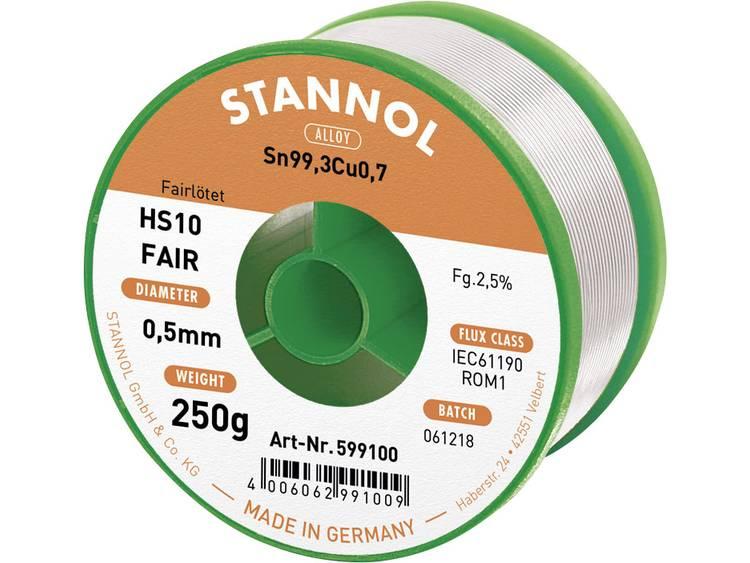 Stannol Soldeertin Spoel Sn99.3Cu0.7 250 g 0.5 mm
