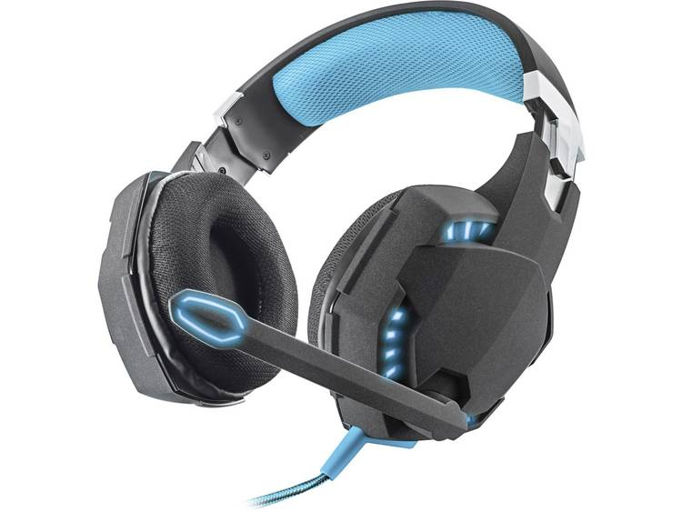 Trust GXT 363 7.1 Bass Vibration Gaming headset USB Kabelgebonden Over Ear Zwart, Blauw