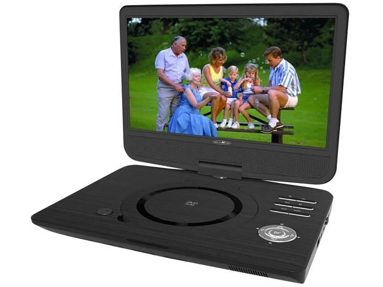 Reflexion DVD1005 Draagbare DVD-speler 25.7 cm 10 inch Incl. 12 V auto-aansluitkabel, Werkt op een accu Zwart