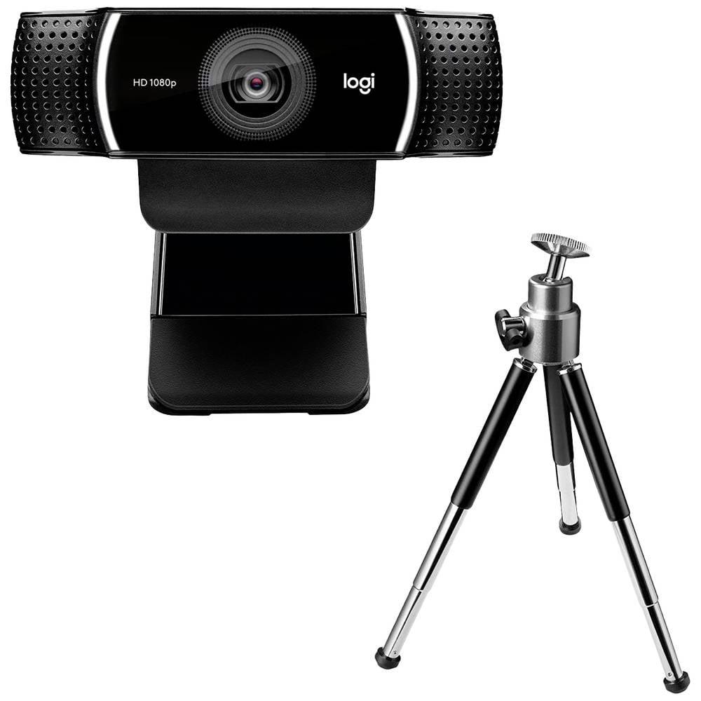 Logitech C922 Pro Stream Full HD-Webkamera 1920 x 1080 pixel fot, klämfäste