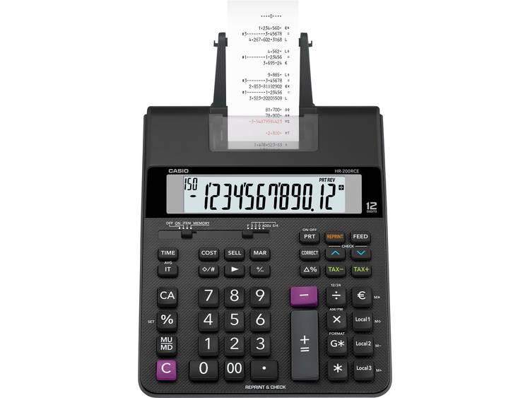 Casio HR 200 RCE Zwart Aantal displayposities 12 werkt op batterijen werkt op