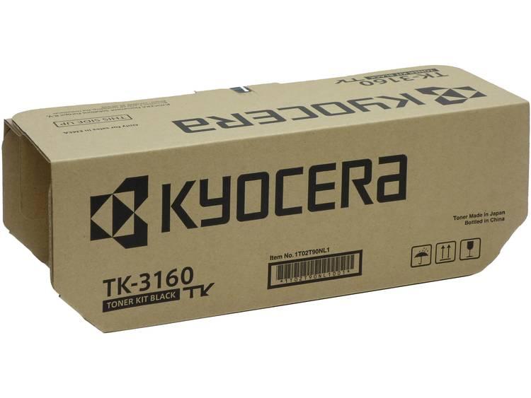 Kyocera Tonercassette TK 3160 1T02T90NL0 Origineel Zwart 12500 bladzijden