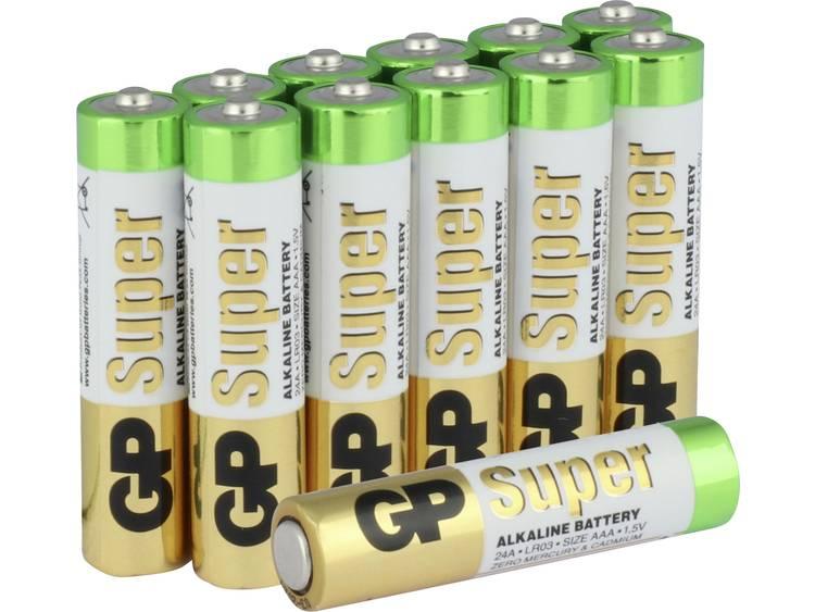 AAA batterij (potlood) GP Batteries Super Alkaline 1.5 V 12 stuks