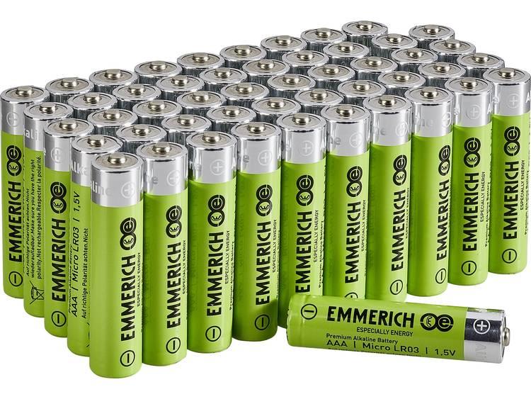 Emmerich Industrial LR03 AAA batterij (potlood) Alkaline 1300 mAh 50 stuk(s)