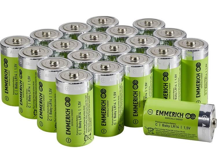 Emmerich Industrial LR15 C batterij (baby) Alkaline 7500 mAh 20 stuk(s)