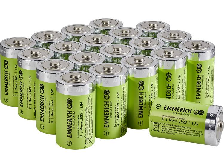 Emmerich Industrial LR20 D batterij (mono) Alkaline 18000 mAh 20 stuk(s)