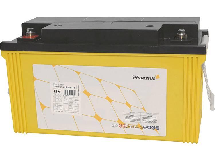 Phaesun Sun-Store 150 340092 Solar-accu 12 V 154 Ah Loodvlies (AGM) (b x h x d) 408 x 225 x 177 mm M8-schroefaansluiting