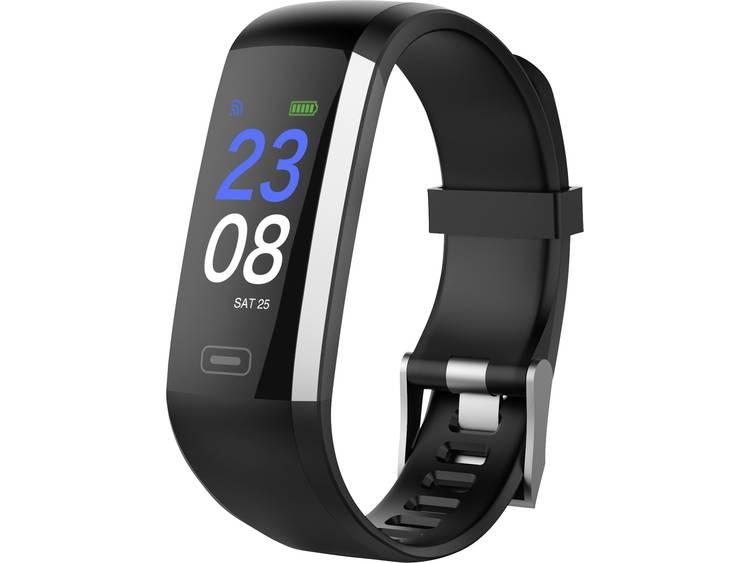 Swisstone SW 600 HR Armband activity tracker TFT Bedraad-Draadloos IP67 Zwart, Roestvrijstaal