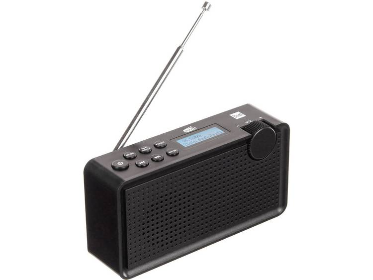Dual DAB 85 FM Transistorradio FM Herlaadbaar Zwart
