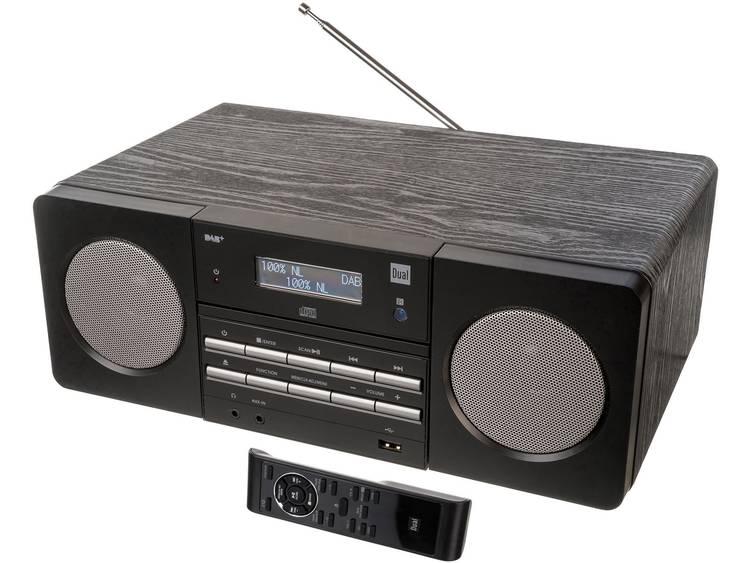 Dual DAB 410 BT DAB+ CD-radio AUX, Bluetooth, CD, FM, USB Zwart