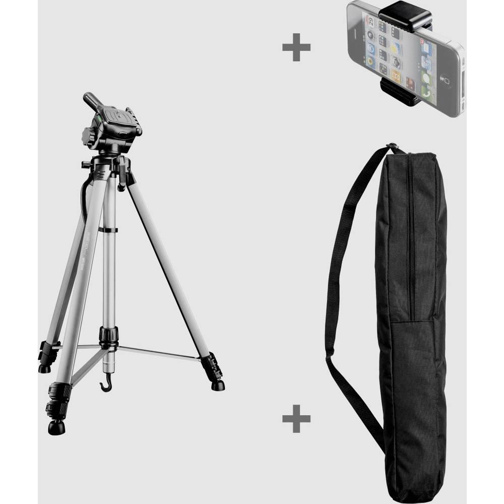 Walimex Pro 22008 Trebensstativ Arbetshöjd=550 - 1460 mm Svart, Silver inkl. vev, inkl. väska, Vattenpass
