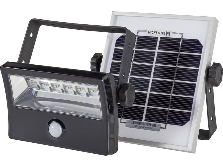Solarspot met bewegingsmelder 8 W Neutraal wit DioDor DIO-FL8W-WM-SP-B Zwart