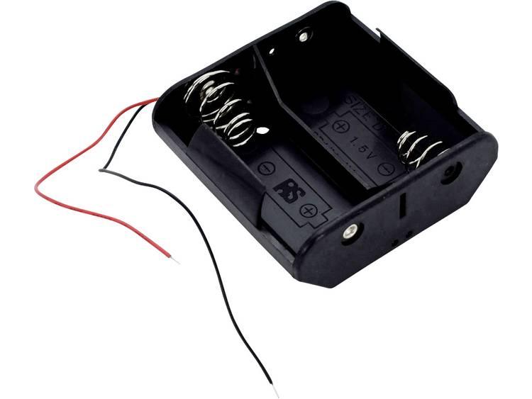 Takachi SN 1-2 Batterijhouder 2 D (mono) Kabel (l x b x h) 71.6 x 70.7 x 28.9 mm