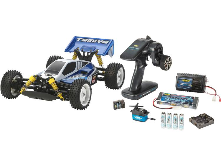 Tamiya NeoScorcher 1st Try 1:10 Brushed RC auto Elektro Buggy 4WD Bouwpakket 2,4 GHz Exclusieve set