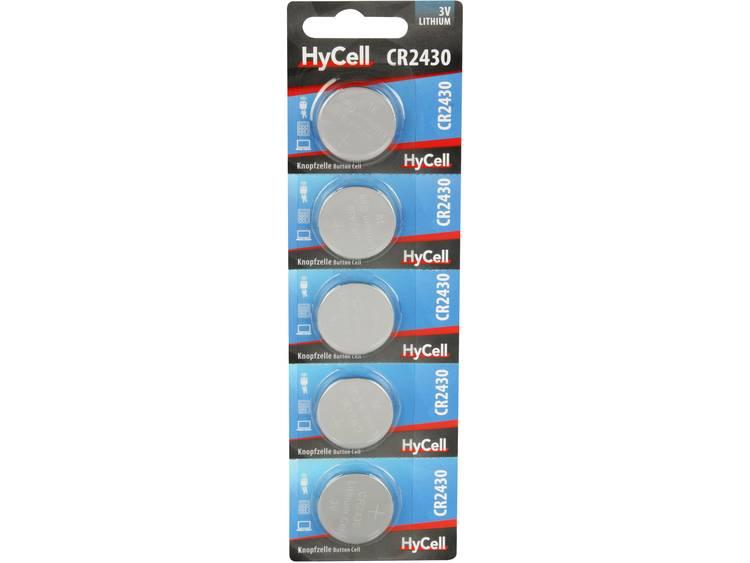 CR2430 Knoopcel Lithium 3 V 300 mAh HyCell CR2430 5 stuk(s)